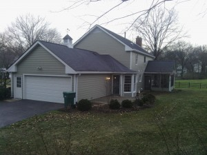 James Hardie Siding, Monterey Taupe Lap Siding and Arctic White Trim, Webster Groves, MO