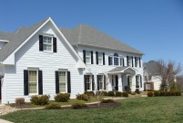 James Hardie Siding Install with Arctic White Siding and Arctic White Trim. Chesterfield MO