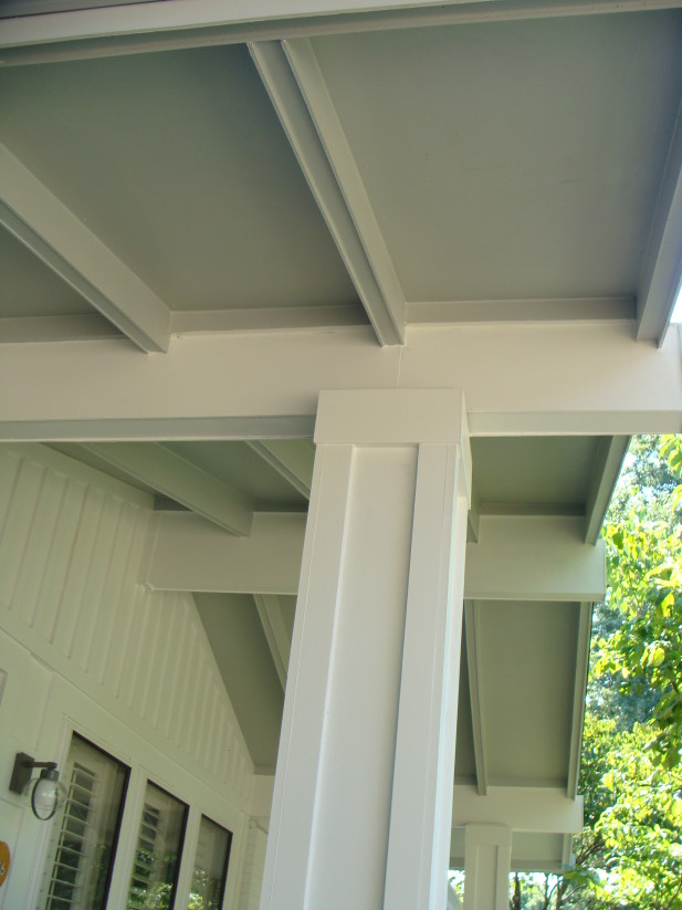 Porch Rafters Wrapped In James Hardie Siding Ballwin Mo