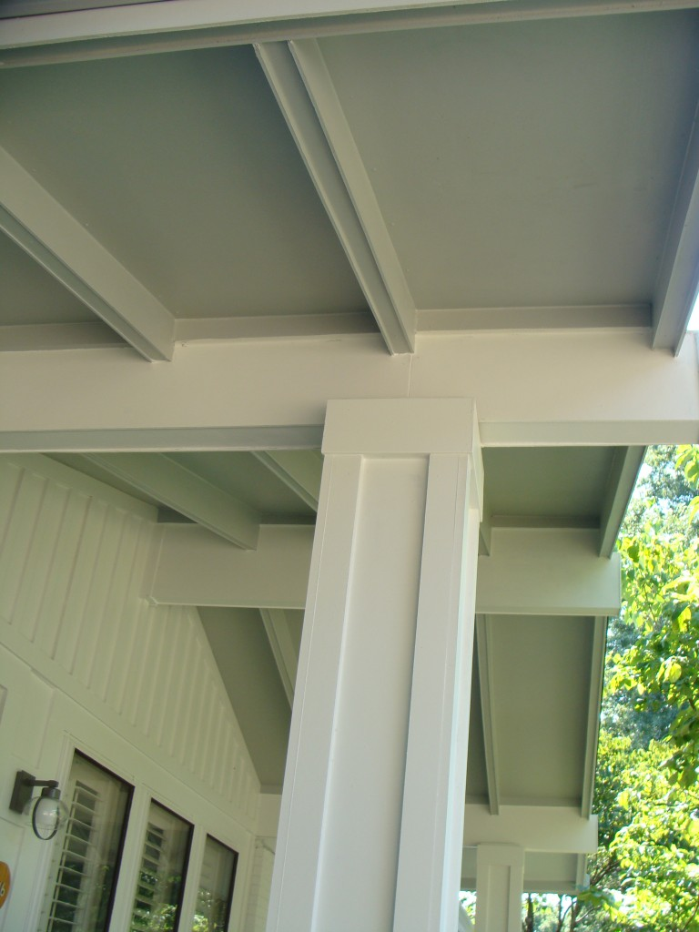 Porch Rafters Wrapped In James Hardie Siding Ballwin Mo 636 734 9299 Stl Siding Pros