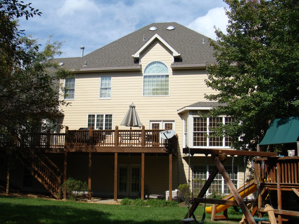 Siding Soffit Fascia And Gutter Install Autumn Tan Cobblestone Trim Chesterfield Mo